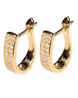 Agatha Hoop Yellow Gold Earrings Joubi London