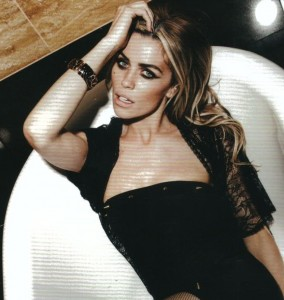 Abbey Clancy wearing the Tiger Cuff inside Sheer Magazine