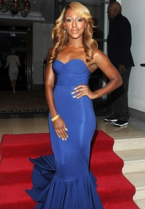 Alexandra Burke seen wearing the Capella Ring to attend the shooting star charity event held by Samuel L Jackson