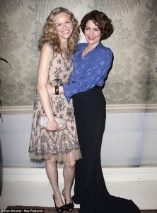 Anna Chancellor wears the Tiger Cuff at the press night of her new play Private Lives.