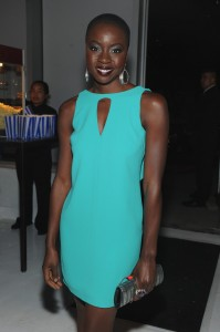 Danai Gurira wearing the Flora and Fauna ring to the Walking Dead presentation