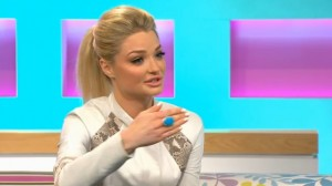 Emma Rigby wearing Joubi on Channel 4, Sunday Brunch, 27 April 2014, 2-1