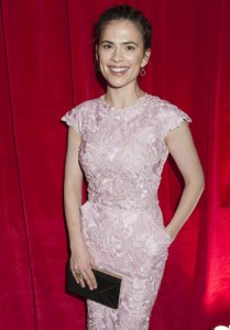Hayley Atwell wears the Geometric ring to the Ballet