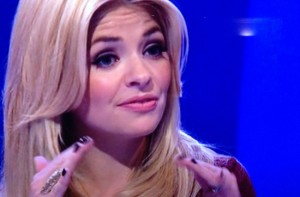 Holly Willoughby wearing the Yellow Gold Geometric ring on Surprise Surprise