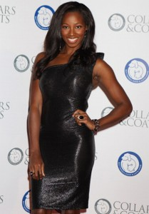 Jamelia wearing JOUBI mix at the Kardashian Kollection for the Dorothy Perkins launch party