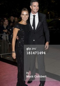 Jessica Taylor wears the Link bracelet in black rhodium whilst attending the Boodles Ball