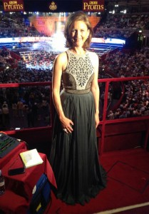 Katie Derham wears the Flora and Fauna and Promenade ring to the BBC Proms