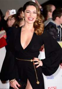 Kelly Brook wears the Heads and Tail ring to the National Television Awards