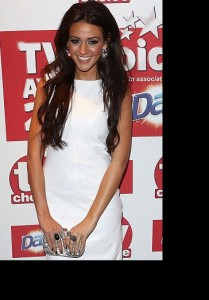 Michelle Keegan wears the White Gold Geometric and Amaya ring to the TV Choice Awards at the Dorchester Hotel in London