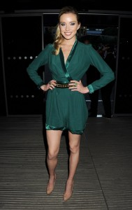 Noelle Reno wears JOUBI at the Warner Music Olympics Party