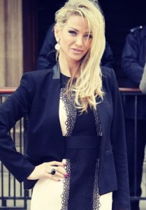 Sarah Harding from Girls Aloud wears the Elephant ring with black onyx in yellow gold to the House Of Commons