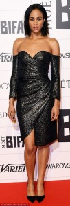 Zawe Ashton on Mail Online in JOUBI attending BIFAs, 06.12.15