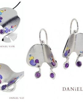 Papillion Amethyst Handmade Silver Collection by Daniel Vior