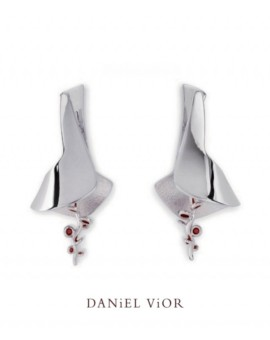 Ligula Silver Handmade Earrings by Daniel Vior