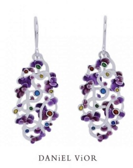 Calicaos Handmade Violet Earrings by Daniel Vior