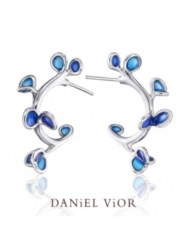 Branca Handmade Silver Blue Earrings by Daniel Vior