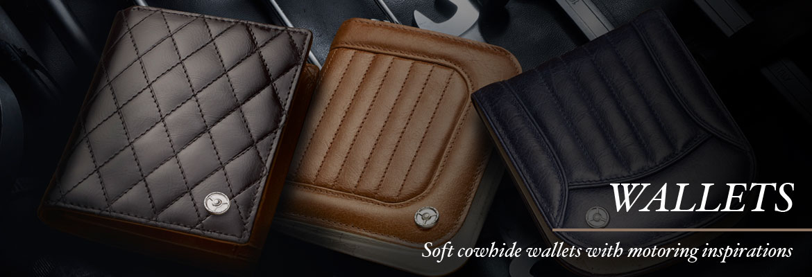 Wallets - Soft cowhide wallets with motoring inspirations