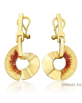 Apoaxis Handmade 18ct Gold Earrings by Daniel Vior