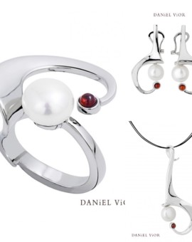 Ancyla Handmade Silver Pearl Collection by Daniel Vior
