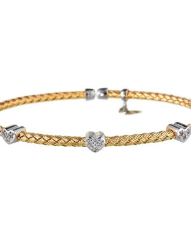 Entwined Gold Hearts Bracelet Vamp London