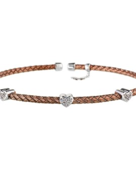 Entwined Chocolate Gold Hearts Bracelet Vamp London