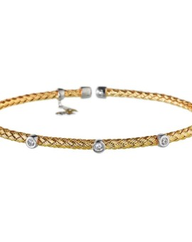Entwined Gold Dainty CZ Bracelet Vamp London