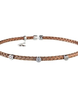 Entwined Chocolate Dainty CZ Bracelet Vamp London