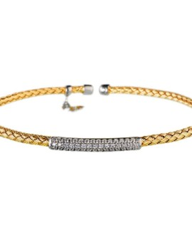 Entwined Gold Bar Bracelet Vamp London