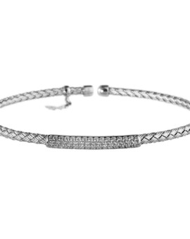 Entwined Silver Bar Bracelet Vamp London