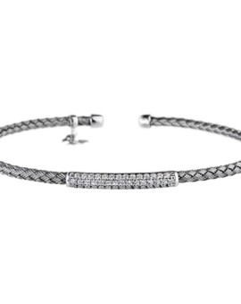Entwined Oxidised Bar Bracelet Vamp London