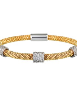 Mesh Gold 3 Cluster Bracelet Vamp London