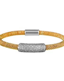 Mesh Gold Large Cluster Bracelet Vamp London