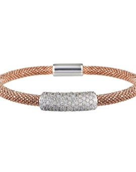 Mesh Rose Gold Large Cluster Bracelet Vamp London