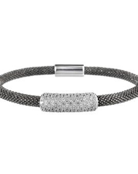 Mesh Oxidised Large Cluster Bracelet Vamp London