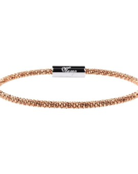 Mesh Rose Gold Skinny Bracelet Vamp London