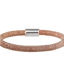 Mesh Bold Rose Gold Bracelet Vamp London
