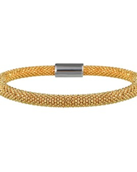 Mesh Bold Gold Bracelet Vamp London