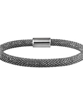 Mesh Bold Oxidised Bracelet Vamp London