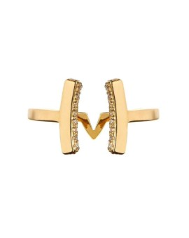 Attitude Gold Cuff Ring Vamp London