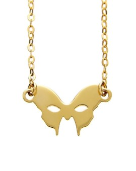 Masquerade Mask Gold Necklace Vamp London