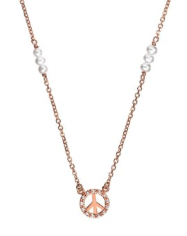 Rose Gold Symbolic Peace Necklace Vamp London