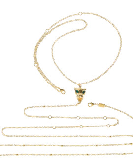 Panther Handmade Yellow Gold Body Chain Joubi London