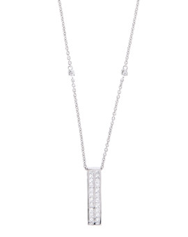 Oblong Handmade White Gold Necklace Joubi London