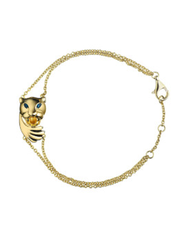 Hamsa Panther Hidden Gold Protector Bracelet Joubi London