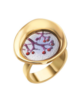Baies Handmade 18ct Gold Ring by Daniel Vior