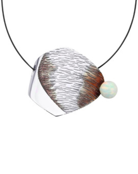 Clino Handmade Opal Silver Necklace by Daniel Vior