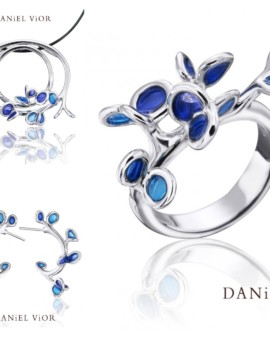 Branca Handmade Silver Blue Collection by Daniel Vior