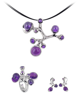 Ecto Silver Handmade Amethyst Collection by Daniel Vior