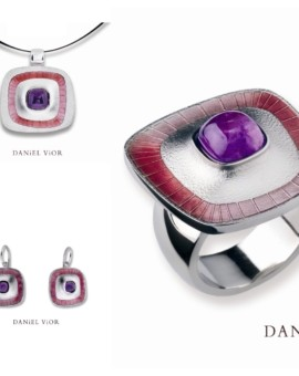 Poas Handmade Silver Amethyst Collection by Daniel Vior