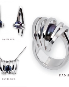 Asir Handmade Silver Black Pearl Collection by Daniel Vior